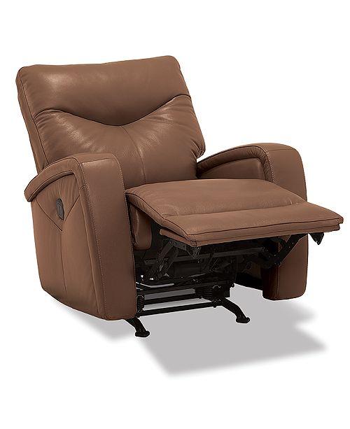 Furniture Erith Leather Power Rocker Recliner