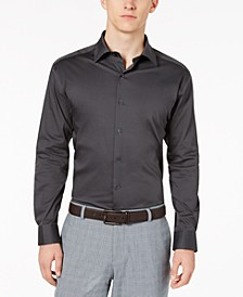 Men's Solid Athletic Fit Dress Shirt, Created For Macy's