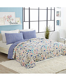 Elizabeth Olwen by Makers Collective Wildwood Cotton Reversible 3-Pc. King Quilt Set