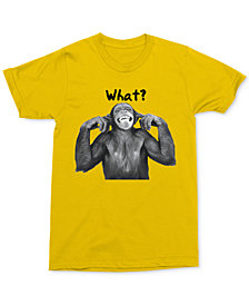 What? Monkey Men's T-Shirt by Changes