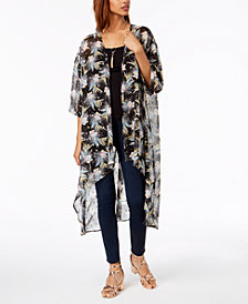 Gypsies & Moondust Juniors' Printed High-Low Kimono
