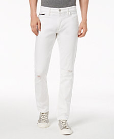 Calvin Klein Jeans Men's Slim-Fit Stretch Destructed Jeans