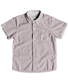 Quiksilver Little Boys Waterfall Cotton Shirt
