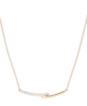 "Elsie May Diamond Accent Overlapping Collar Necklace in 14k Gold, 15"" + 1"" extender, Created for Macy's"