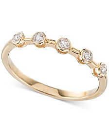 Elsie May Diamond Accent Bezel Ring in 14k Gold, Created for Macy's