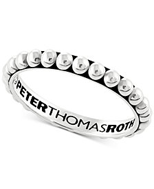 Peter Thomas Beaded Stacking Band in Sterling Silver