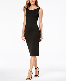 Calvin Klein Imitation Pearl-Trim Scuba Dress