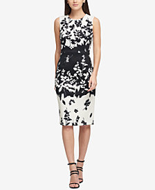 DKNY Printed Scuba Sheath Dress, Created for Macy's