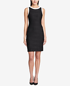 Tommy Hilfiger Crisscross-Knit Sheath Dress