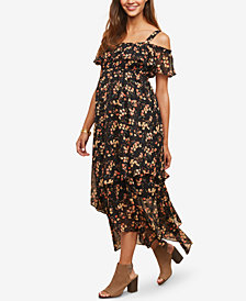 Motherhood Maternity Off-The-Shoulder Midi Dress