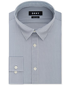 DKNY Men's Slim-Fit Performance Active Stretch Stripe Dress Shirt, Created for Macy's