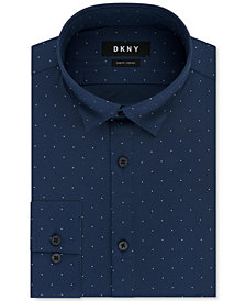 DKNY Men's Slim-Fit Performance Active Stretch Dot Dress Shirt, Created for Macy's