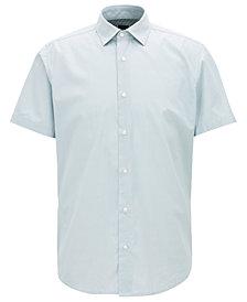 BOSS Men's Regular/Classic-Fit Short-Sleeve Cotton Shirt