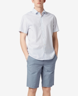 Boss Men's Regular/Classic-Fit Short-Sleeve Cotton Shirt