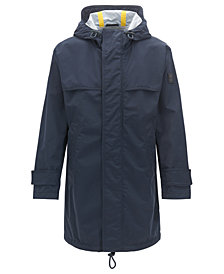BOSS Men's Relaxed-Fit Performance Raincoat