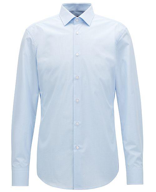 a64916b4 Hugo Boss BOSS Men's Slim-Fit Cotton Shirt & Reviews - Dress Shirts ...