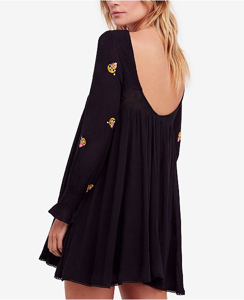 Free People Mohave Embroidered Mini Dress Dresses Juniors Macys