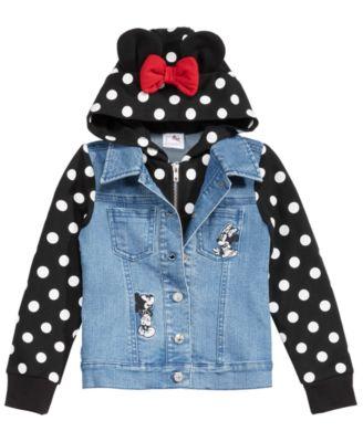 Little Girls Layered-Look Denim Jacket