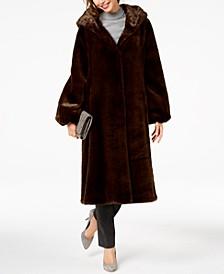 Hooded Faux-Fur Maxi Coat