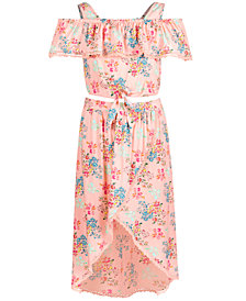 Kandy Kiss Big Girls 2-Pc. Floral-Print Top & Skirt Set