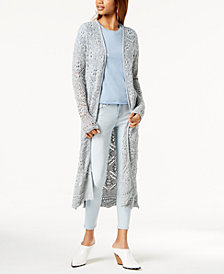One Hart Juniors' Crochet Duster Cardigan, Created for Macy's
