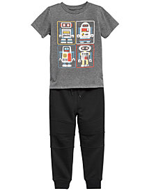 Epic Threads Little Boys Graphic-Print T-Shirt & Jogger Separates, Created for Macy's