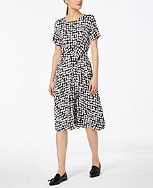 Weekend Max Mara Nazario Printed Belted Dress