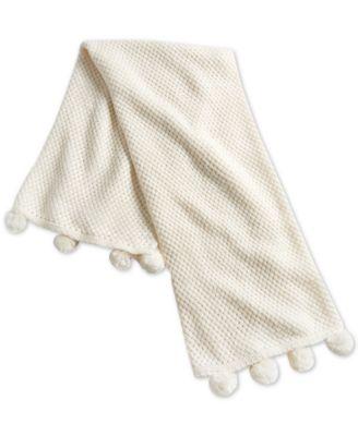 """50"""" x 60"""" Chunky-Knit Pom Pom Throw, Created for Macy's"""