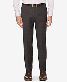 Perry Ellis Portfolio Men's Slim-Fit Stretch Subtle Plaid Dress Pants