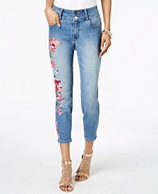 Thalia Sodi Floral-Print Skinny Jeans, Created for Macy's