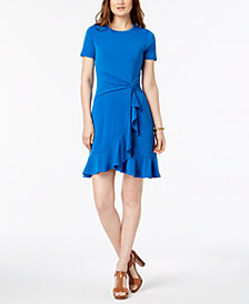 MICHAEL Michael Kors Twist-Waist Dress In Regular & Petite Sizes