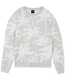 A|X Armani Exchange Men's Palm Tree Sweatshirt
