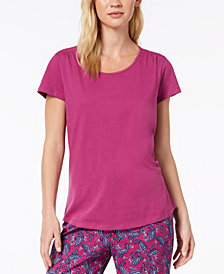 Charter Club Cotton Short-Sleeve Pajama Top, Created for Macy's