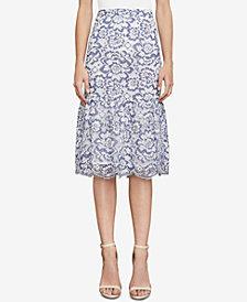 BCBGMAXAZRIA Jesse Two-Tone Lace Skirt