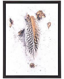 Zuo Volare White & Gold Canvas Print