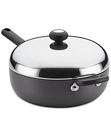 Circulon Classic Hard-Anodized Non-Stick 4-Qt. Chef Pan & Lid