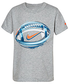 Nike Toddler Boys Football-Print Cotton T-Shirt