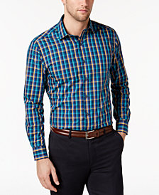 Bar III Men's Classic/Regular Fit Multi-Check Dress Shirt, Created for Macy's