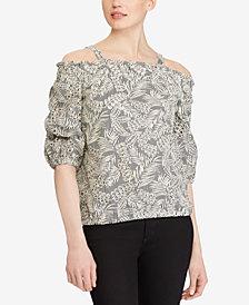 Lauren Ralph Lauren Cold-Shoulder Cotton Top