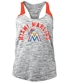 5th & Ocean Women's Miami Marlins Space Dye Tank