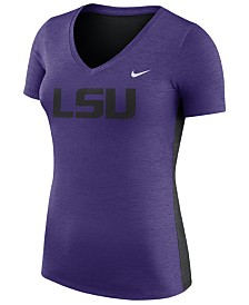 Nike Women's LSU Tigers Dri-Fit Touch T-Shirt