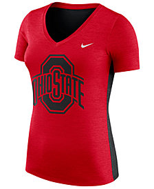 Nike Women's Ohio State Buckeyes Dri-Fit Touch T-Shirt
