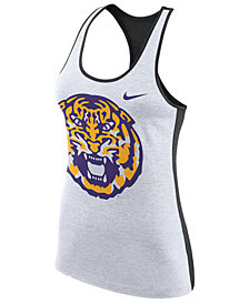 Nike Women's LSU Tigers Dri-Fit Touch Tank