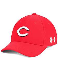 Under Armour Boys' Cincinnati Reds Adjustable Blitzing Cap