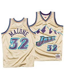 Mitchell & Ness Men's Karl Malone Utah Jazz Gold Collection Swingman Jersey