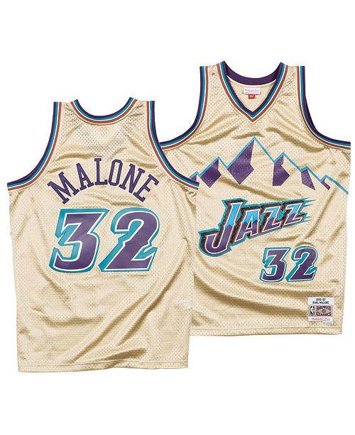 san francisco 1c50a 2f258 Mitchell & Ness Men's Karl Malone Utah Jazz Gold Collection ...