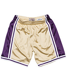 Mitchell & Ness Men's Los Angeles Lakers Gold Collection Swingman Shorts