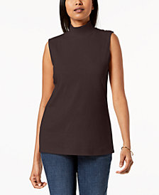Karen Scott Mock-Neck Tank Top, Created for Macy's