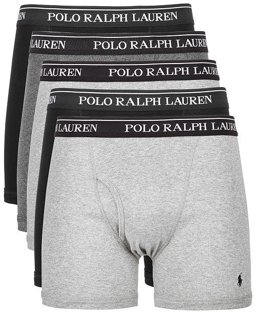 b957ef23c1b Polo Ralph Lauren Men's 5-Pk. Cotton Classic Boxer Briefs & Reviews ...
