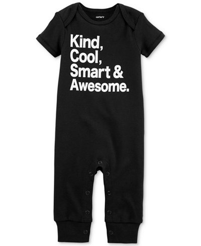 13f0108d8 Carter s Baby Boys   Girls Smart   Awesome Cotton Coverall - All ...